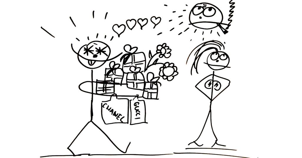 Dárky, pozornost, pomoc, přizpůsobení se partnerce ti lásku nekoupí.